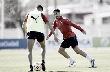 Nicolas Figal completamente recuperado. Imagen: @Independiente