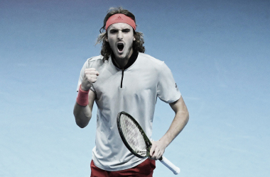 Tsitsipas campeón invicto. Imagen: @ATPTour