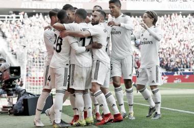 Celebran un tanto en el Wanda/ Foto: Real Madrid C.F