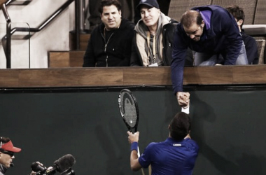 Cuanto Tenis en dos derechas, Pete saluda a Nole. Imagen: Getty Images