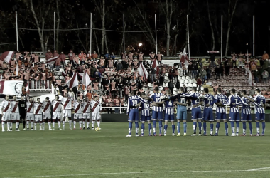 Minuto de silencio en homenaje a Wilfred en el Rayo - Deportivo. / Fotografía: La Liga..