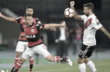 """<p class=""""MsoNormal"""">River Plate y Flamengo compartieron grupo en la Copa Libertadores 2018, resultando los dos encuentros disputados en empate.&nbsp;</p>"""