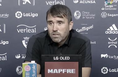 Eduardo Coudet en la rueda de prensa posterior al partido frente al CA Osasuna / Foto: RC Celta