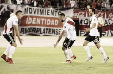 Con goles de Rafael Santos Borré y Lucas Pratto, River Plate venció a un tibio Rosario Central en Núñez y se afirma en puestos de Copa Sudamericana. FOTO: CARP oficial.