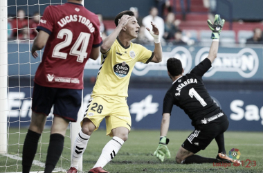 Dani Escriche en su primera titularidad en el fútbol profesional   Fuente: LaLiga
