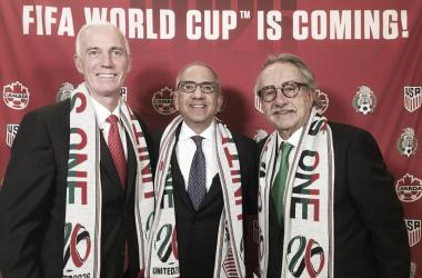 Los Presidentes de las Federaciones organizadoras / FOTO: @united2026