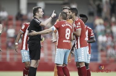 López Toca en una acción del Lugo - Reus   Fuente: La Liga