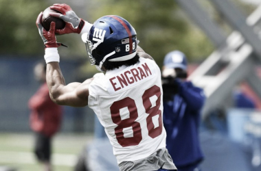 Evan Engam will enter the season as the starting tight end after being selected in the first round. Photo: (Giants.com)