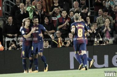 Lionel Messi frente al Eibar en la primera vuelta de Liga, dónde anotó cuatro goles   Foto: Ernesto Aradilla (Vavel.com)