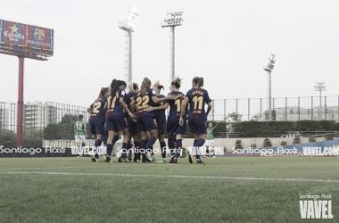 El FC Barcelona arrasa en el iniciodel nuevo e ilusionante proyecto. | Fotografía: Santiago Arxé (VAVEL España)