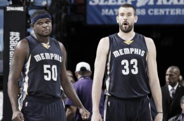 """Marc Gasol y Zach Randolph, """"receta para el desastre""""   Foto: NBA.com"""