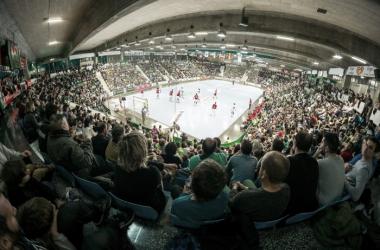 La Catedral durante la pasada Copa EHF. Helvetia Anaitasuna.