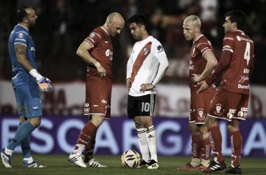 Gonzalo Martínez tuvo en su pie la victoria, pero malogró el penal rematando por arriba del travesaño. FOTO: CARP Oficial.