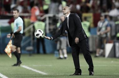 Roberto Martínez en la banda/ Foto: FIFA.com