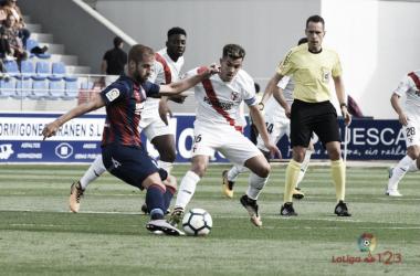 Gorostegui Fernández en el Huesca - Sevilla Atlético   Fuente: LaLiga