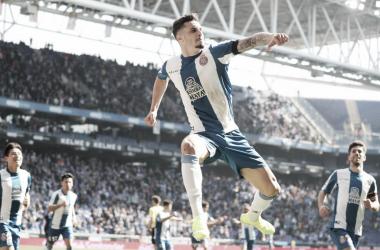 Hermoso celebra el 2-1. Foto: La Liga.