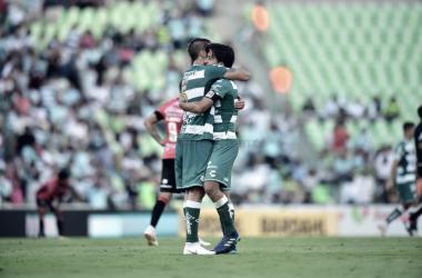 Nervo alineó por primera vez junto al canterano Javier Abella en un partido oficial de Liga. (Foto: El Siglo de Torreón)