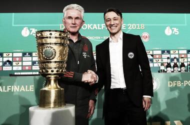 Niko Kovac y Jupp Heynckes previo a la Final de la Copa de Alemania / FOTO: @eintracht_esp