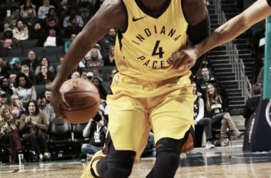 Oladipo on fire. Imagen; @NBA