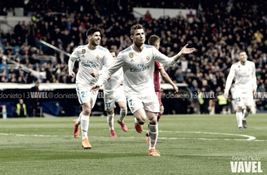 Cristiano Ronaldo celebrando un gol. Fotografía: Daniel Nieto