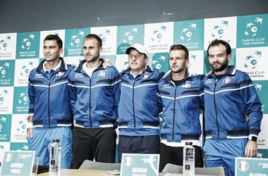 The Romanianteam at the presentation of the teams on Tuesday I Photo: Radu Padurean frt.ro