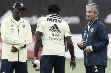 Treinador comandou último treino antes da final | Foto: Gilvan de Souza/Flamengo
