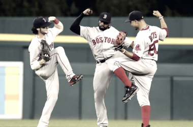 The young outfield in Boston is making it difficult for the talented outfield prospects in their system to get noticed. bosoxinjection.com