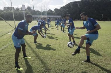 Azulão encerrou os treinos de campo na tarde desta terça-feira (5), antes da estreia contra o Mixto-MT (Foto: CSA)