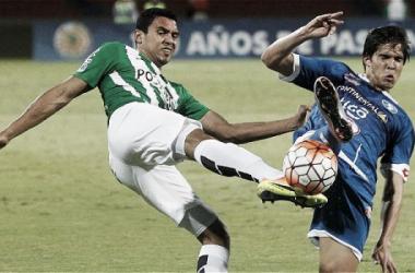 Bocanegra, marcó el primer gol del partido y encaminó a los 'verdes' a cuartos de final. | Foto: Jaiver Nieto / ETCE