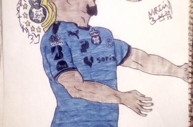 Tavares hizo historia al convertirseen el primer campeón de goleo africano en la primera división de nuestro país.(Ilustración: Martín Bernal M,)