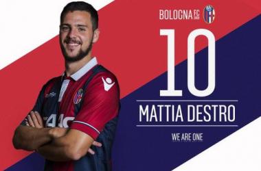 Destro, nuevo jugador del Bologna