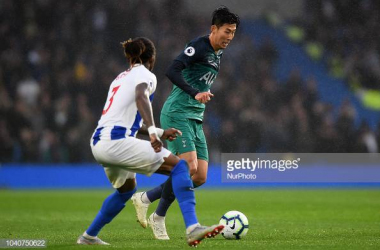 Gaetan Bong and Son Hueng-Min in action in the reverse fixture at The Amex. Image courtesy ofJon Bromley from Nur Photo on Getty Images.