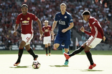 Manchester United vs Leicester City. Foto Mirror