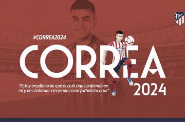 El Atleti se asegura 'Correa'