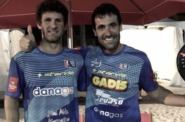 Guga y Borja tras la victoria | Foto:World Padel Tour