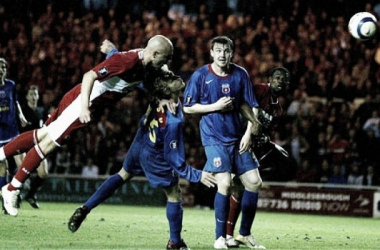 Maccarone sealed an astonishing comeback with an unstoppable 89th minute header. Source: The Telegraph