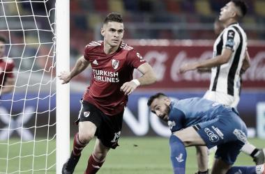 VERDUGO. Santos Borré, hoy en el fútbol alemán, le sentaba cómodo Central Córdoba le anotó en todos los encuentros menos en la final de Copa Argentina. Foto: Web