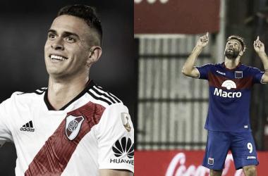 Borré y González, en dos momentos goleadores diferentes (Fotomontaje Adrián Gallardo)