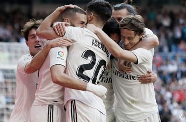Real Madrid celebrando un gol. Fuente: Real Madrid.
