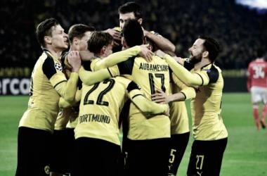 La gioia dei giocatori del Borussia Dortmund. Foto: Calciomercato.com