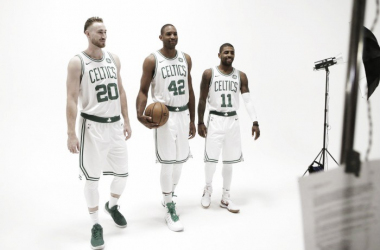The big three that hopes to emulate the Boston Celtics 2008 success. Photo: Steven Senne-AP Photo