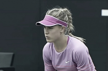 Eugenie Bouchard lost early once again in Holland. Photo: Tennis TV
