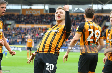 Hull City forward Jarrod Bowen was amongst the goals yet again this weekend | Photo: Getty/ Ashley Allen