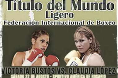 Bustos vs López/Foto:boxeoboxing.com