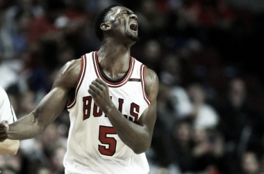 "Portis gave Mirotic a ""cheap shot"" and sent Mirotic to the hospital. Photo: Chris Sweda/Chicago Tribune"
