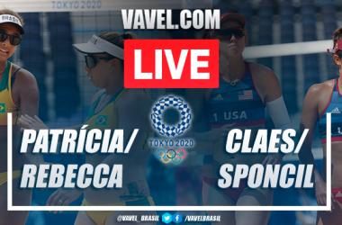 Melhores momentos Patricia/Rebecca x Claes/Sponcil no vôlei de praia nas Olimpíadas de Tóquio (1-2)