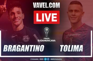 Resumen Bragantino vs Tolima (2-1) en la fecha 1 del grupo G por Copa Sudamericana 2021