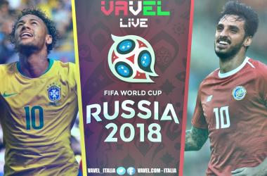 Terminata Brasile - Costa Rica, LIVE Mondiali Russia 2018 (2-0): La chiude Neymar. Costa Rica fuori dal mondiale!