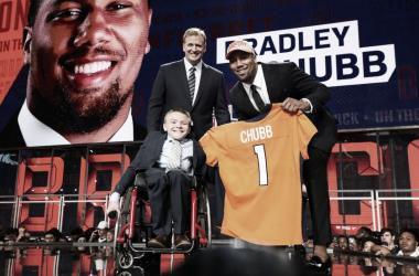 Bradley Chubb, primer jugador seleccionado por Denver Broncos (foto nfl.com)