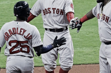 Jackie Bradley Jr. is demonstrating the he can hit at the top level (Credit: Boston Red Sox)
